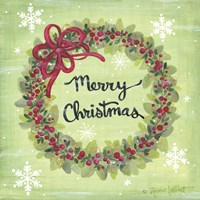 Merry Christmas Wreath Fine Art Print
