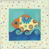 Happy Floral Fish Fine Art Print