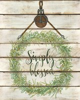 Simply Blessed Wreath Fine Art Print