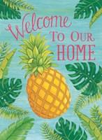 Tropical Leaves & Pineapple Fine Art Print