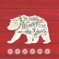 The Most Wonderful Time Bear Fine Art Print