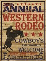 25th Annual Western Rodeo Fine Art Print