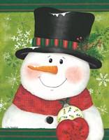 Snowman with Bulb Fine Art Print