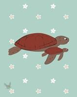 Nautical Turtle 2 Fine Art Print
