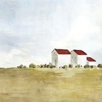 Red Farm House II Fine Art Print