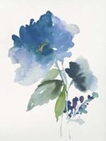 Blue Flower Garden III Fine Art Print