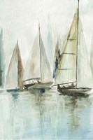 Blue Sailboats III Fine Art Print