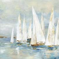 White Sailboats Fine Art Print
