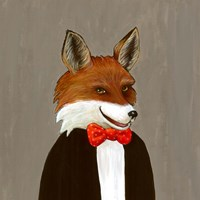 Mr Fox Thinks Out of the Box Fine Art Print