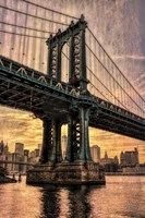 Manhattan Bridge & Skyline B Fine Art Print