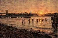 East River Sunset Fine Art Print