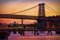 Williamsburg Bridge at Twilight Fine Art Print