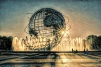Sun Setting Behind Unisphere Fine Art Print