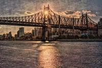 Sunset Behind Queensboro C Fine Art Print