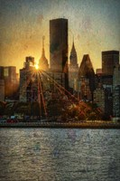 Mid-Manhattan Sunset C Fine Art Print