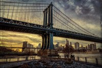 Manhattan Bridge at Sunset Fine Art Print