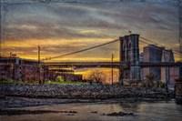 Brooklyn Bridge at Sunset Fine Art Print