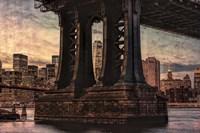 Base of Manhattan Bridge Fine Art Print