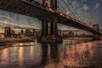 NYC Bridges at Twilight Fine Art Print