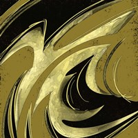 Abstract Black & Gold 2 Framed Print
