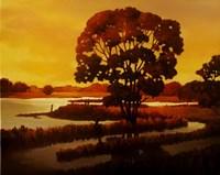 Evening Water I Fine Art Print