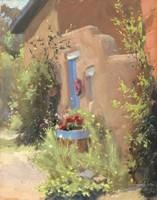 Blue Violet Door Fine Art Print