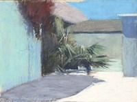 Pastel Palms Shapes Fine Art Print