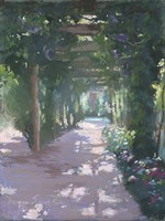 Pergola Violet Pastel Fine Art Print