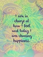 Choosing Happiness (words) Fine Art Print
