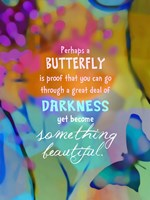 Beautiful Butterfly (words) Fine Art Print