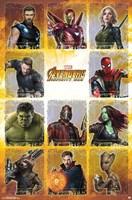 Avengers Infinity War (chart) Wall Poster
