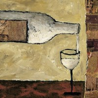 White Wine Pour Fine Art Print