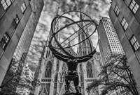 Rockefeller plaza New York Black/White Fine Art Print