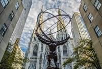 Rockefeller plaza New York Fine Art Print