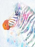 Fluorescent Zebra I Framed Print