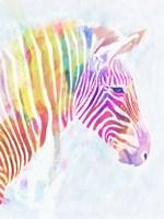 Fluorescent Zebra II Fine Art Print
