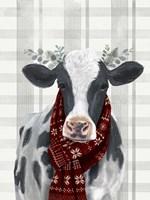 Yuletide Cow I Fine Art Print
