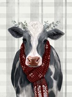 Yuletide Cow II Fine Art Print