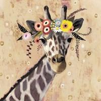 Klimt Giraffe II Fine Art Print