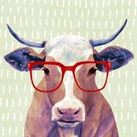 Bespectacled Bovine I Fine Art Print