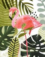 Flamingo Forest I Framed Print