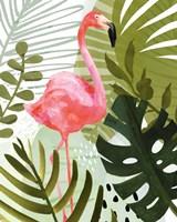 Flamingo Forest II Framed Print