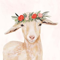 Garden Goat I Fine Art Print
