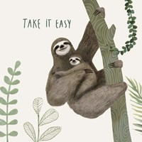 Sloth Sayings IV Fine Art Print