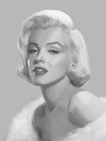 True Blue Marilyn Fine Art Print