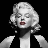 Halter Top Marilyn Red Lips Fine Art Print