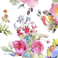 Watercolor Flower Composition I Fine Art Print