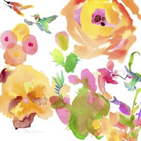 Watercolor Flower Composition VIII Fine Art Print
