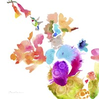 Watercolor Flower Composition IX Framed Print