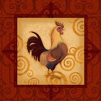 Decorative Rooster I Fine Art Print